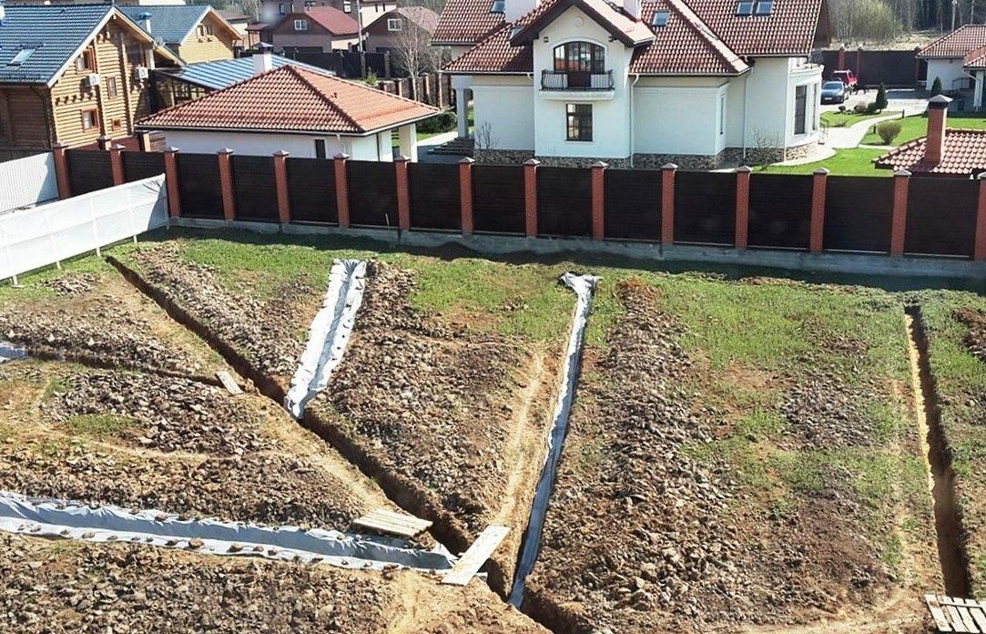 Создание системы водоотведения и дренажа на участке